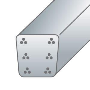 9x9,5 - 6 կետ/18 մետաղալար